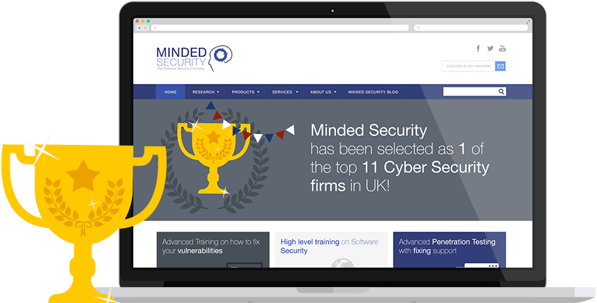 Minded Security restyling website and brand identity